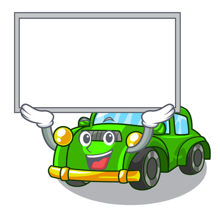 Up board classic car isolated in the cartoon vector illustration Illustration