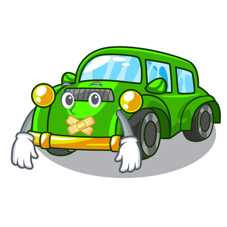 Silent classic car toys in cartoon shape vector illustration