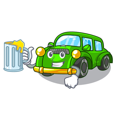 classic car in the shape mascot vector illustration