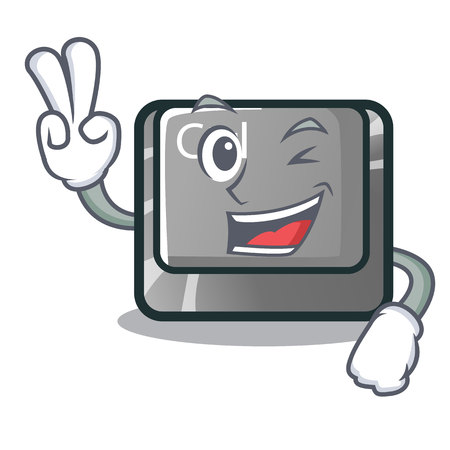 Two finger ctrl button isolated in the mascot vector illustration