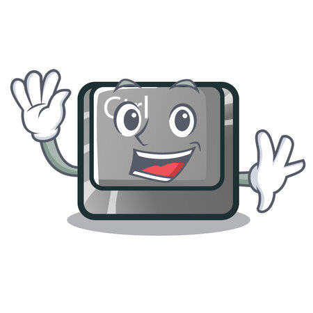 Waving ctrl button isolated in the mascot vector illustration Illustration