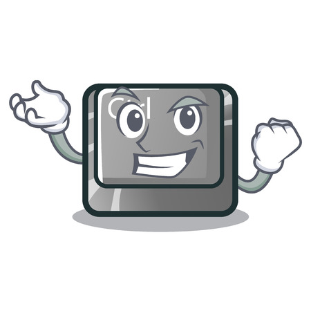 Successful ctrl button isolated in the mascot vector illustration
