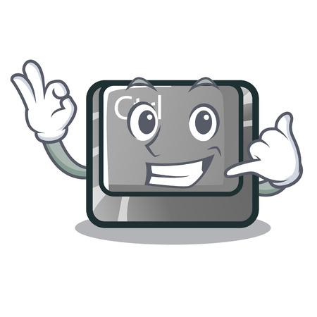 Call me ctrl button on the cartoon keyboard vectoir illustration Vector Illustration