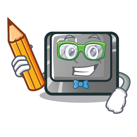 Student ctrl button isolated in the mascot vector illustration