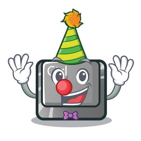 Clown ctrl button on the cartoon keyboard vectoir illustration