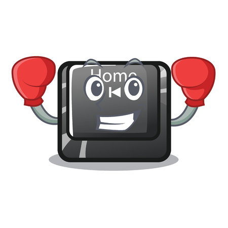 Boxing home button located on character keyboard vector illustration