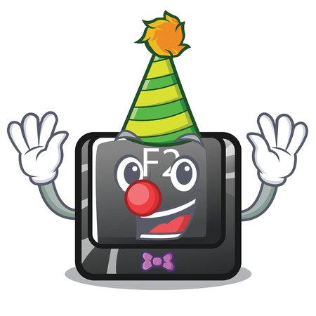 Clown f2 button on the mascot computervector illustration Vecteurs