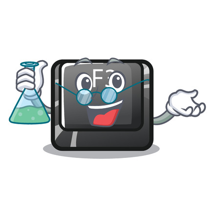 Professor button f3 on the character keyboard vector illustration Ilustrace