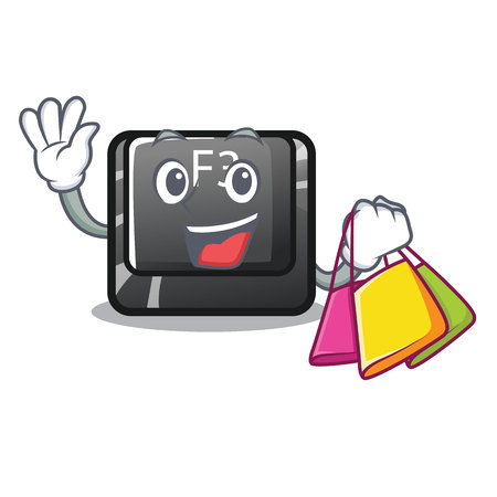 Shopping button f3 on the character keyboard vector illustration