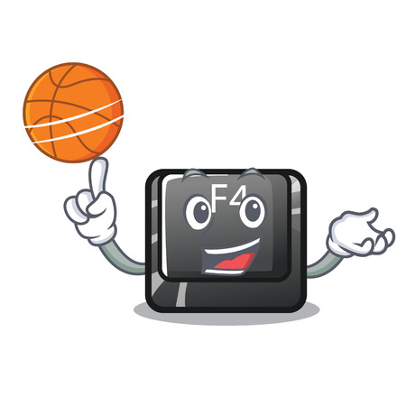 With basketball f4 button installed on cartoon keyboard