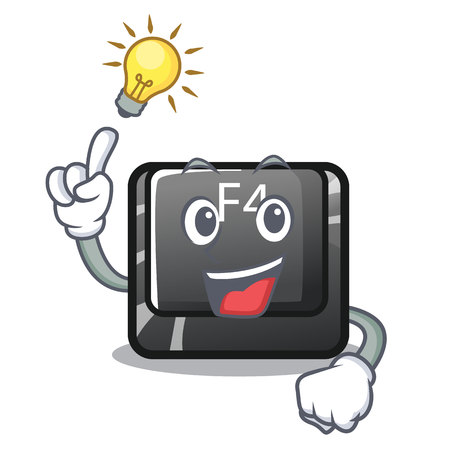 Have an idea button f4 on the mascot computer vector illustration