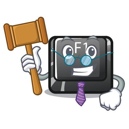 Judge cartoon f1 button installed on keyboard