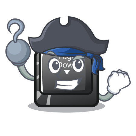 Pirate character page down button installed computer