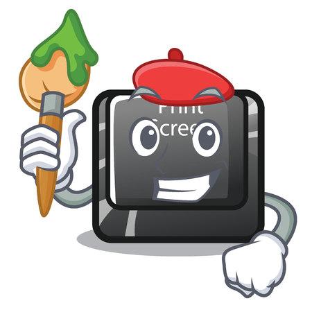 Artist button print screen the computer character