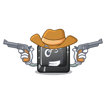 Cowboy button f5 isolated with the character