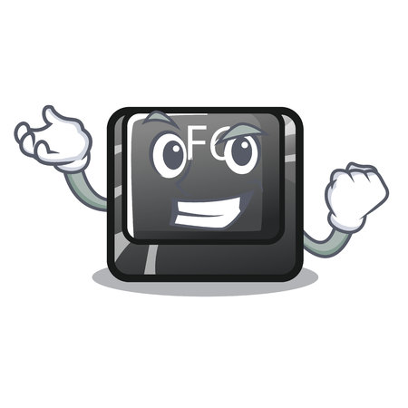 Successful button f6 isolated in the mascot vector illustration 写真素材 - 120318630