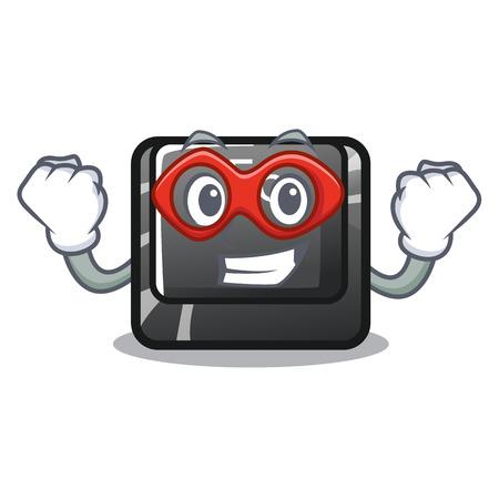 Super hero button f6 isolated in the mascot 写真素材 - 120324263