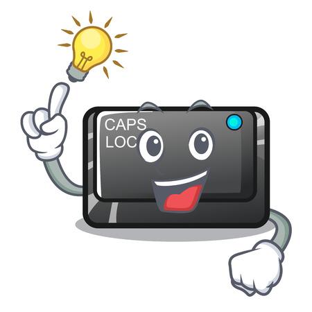 Have an idea capslock button isolated with the cartoon vector illustration Illustration