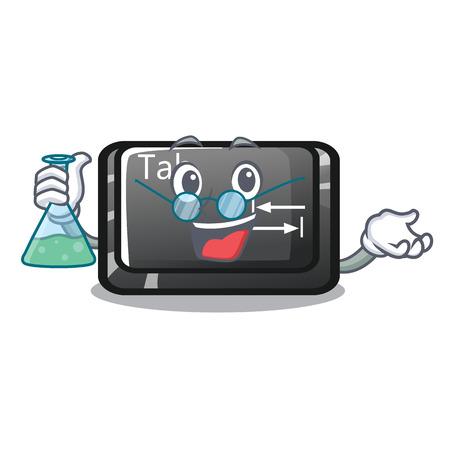 Professor button tab in the shape cartoon vector illustration Illustration