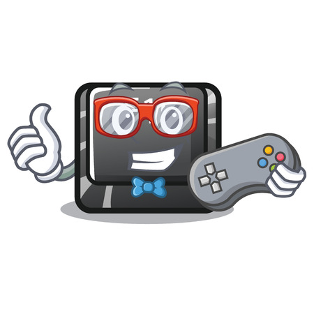 Gamer button f10 isolated with the cartoon vector illustration