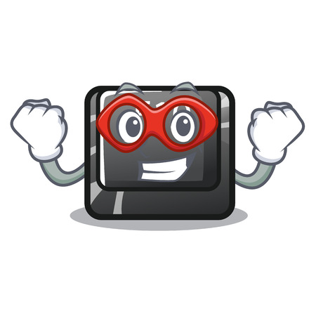 Super hero button f10 on a keyboard character vector illustration 写真素材 - 120487343