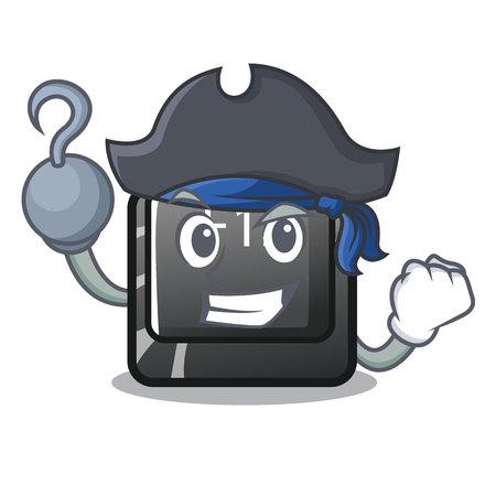 Pirate button f12 on a keyboard mascot