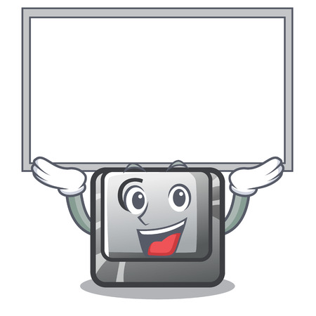 Up board button C on a keyboard character vector illustration