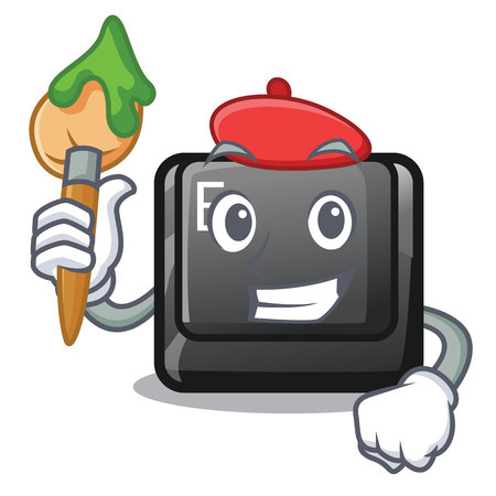 Artist button E isolated with the character vector illustration Ilustração