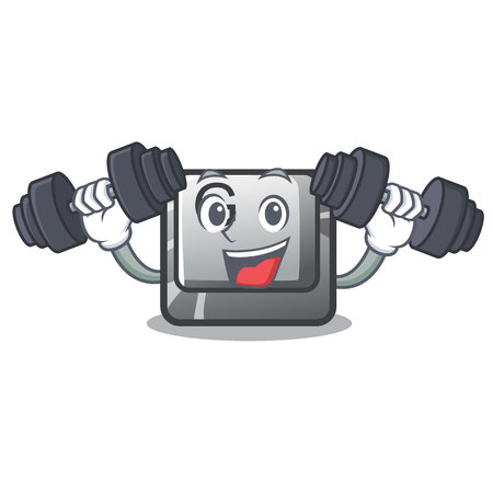 Fitness button G isolated in the cartoon vector illustration  イラスト・ベクター素材