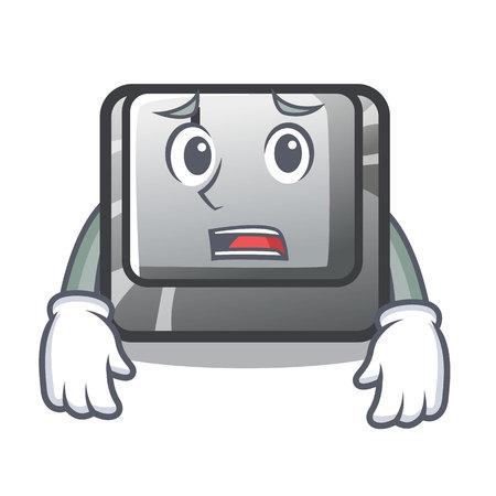Afraid button I in the cartoon game