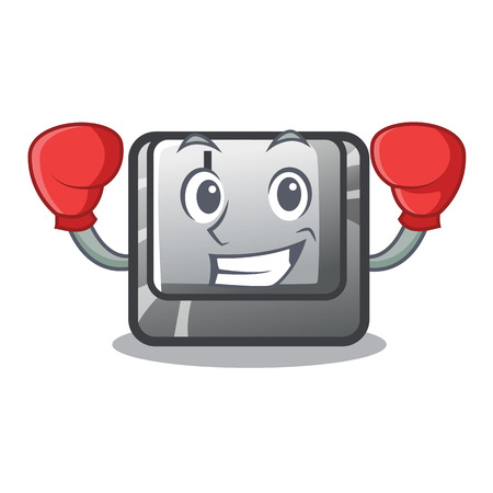 Boxing button I on a keyboard mascot vector illustration Illustration