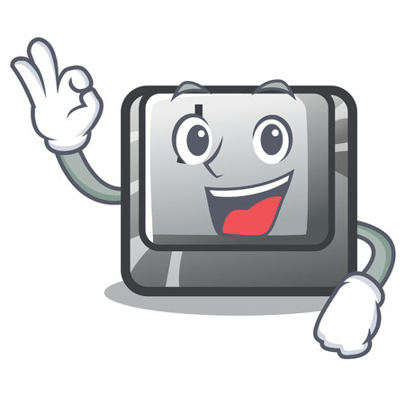 Okay button J isolated in the cartoon vector illustration Stock fotó - 123586465