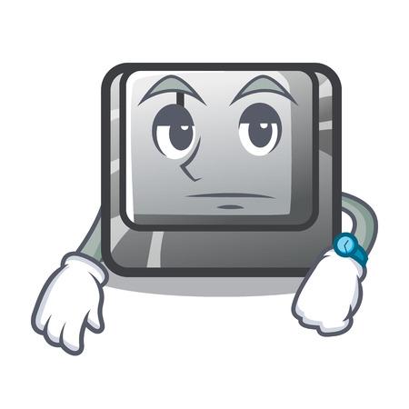 Waiting button J in the mascot shape vector illustration Illusztráció