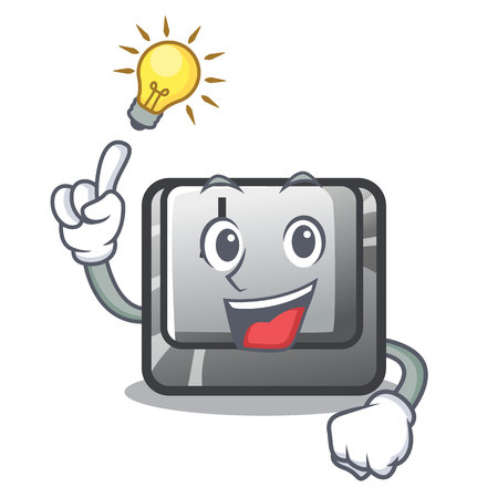 Have an idea button J in the mascot shape vector illustration