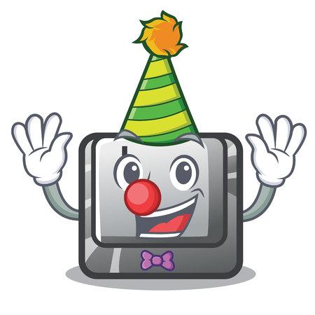 Clown button L on a game cartoon vector illustration