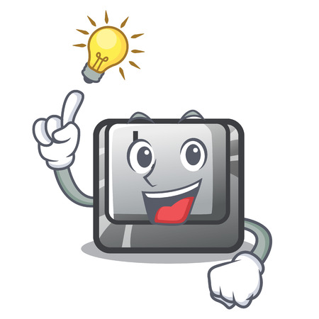 Have an idea button L on a game cartoon vector illustration