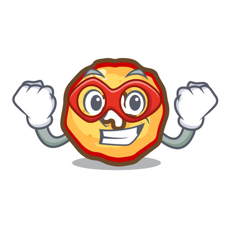 Super hero apple chips isolated with the mascot