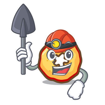 Miner apple chips presented on character boards