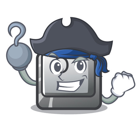 Pirate button O isolated in the cartoon