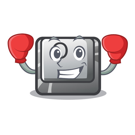 Boxing button O isolated in the cartoon vector illustration Ilustração