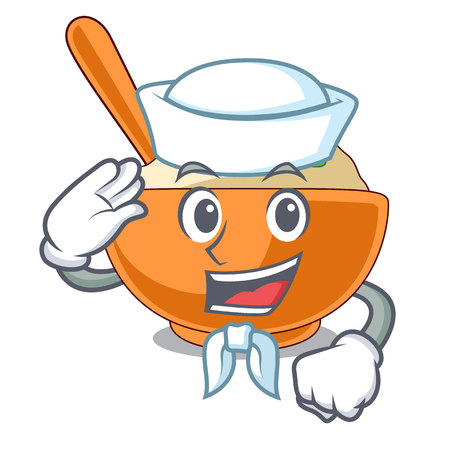 Sailor mashed potatoes served in character bowls