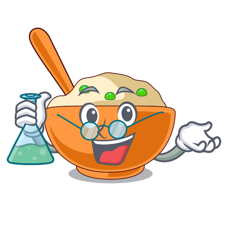 Professor mashed potato isolated with the cartoon vector illustration