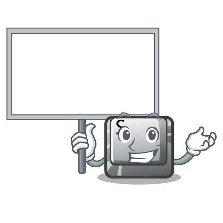 Bring board button S in the cartoon shape vector illustration Vecteurs