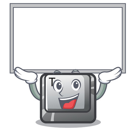 Up board button T isolated in the cartoon vector illustration Ilustração