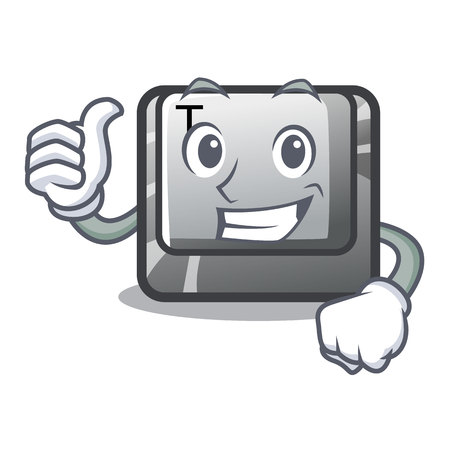 Thumbs up T button installed on character computer