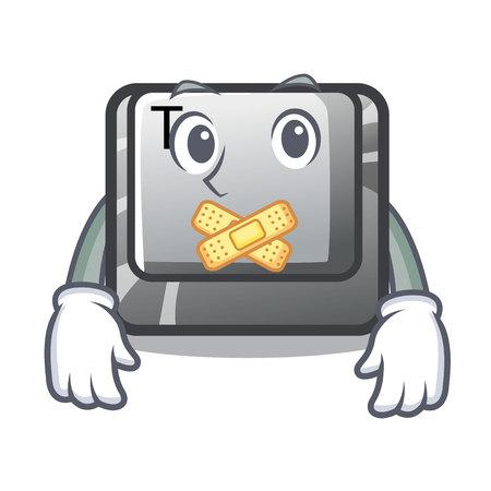 Silent button T in the mascot shape Иллюстрация