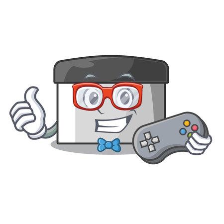 Gamer pastry scraper on wooden mascot table vector illustration Banco de Imagens - 123120115