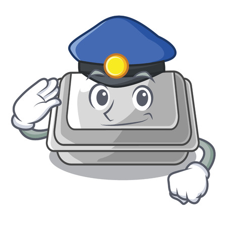 Police plastic box isolated in the cartoon vector illustration 矢量图像