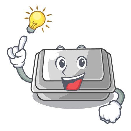 Have an idea plastic box in the character closet vector illustration Banco de Imagens - 123120214