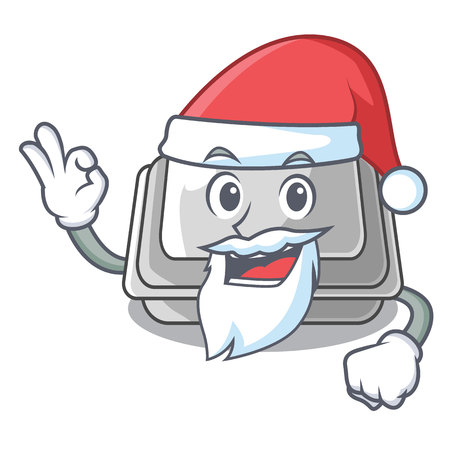 Santa plastic box in the character closet vector illustration
